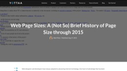 float-right Web Page Sizes: A (not so) Brief History of Page Bloat