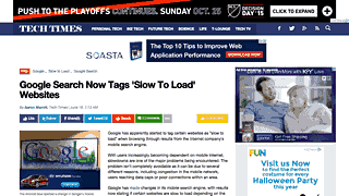 float-left Google Search now tags 'Slow to load' websites, says the 18 megabyte page gallantly.